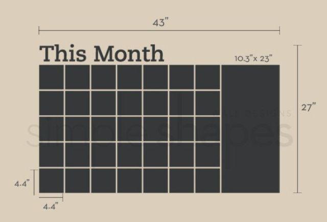 Chalkboard calendar   Crafty   Pinterest   Chalkboard calendar ...