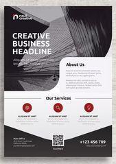 Plantilla de volante de negocios corporativos AI PSD EPS  Corporate Flyer Templates