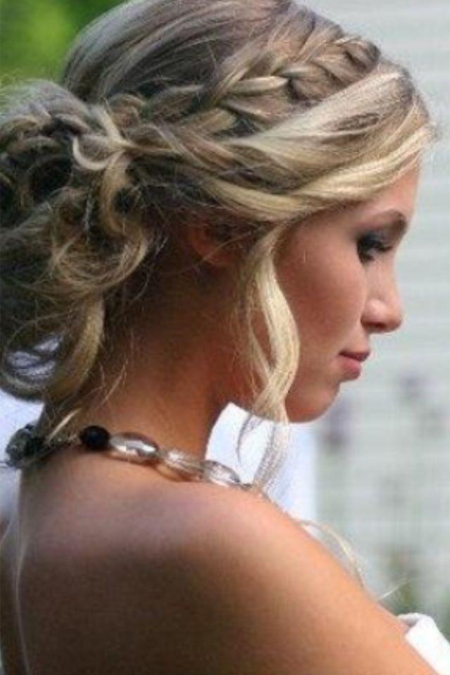 Braid Into Messy Bun H A I R R R R Hair Styles Prom