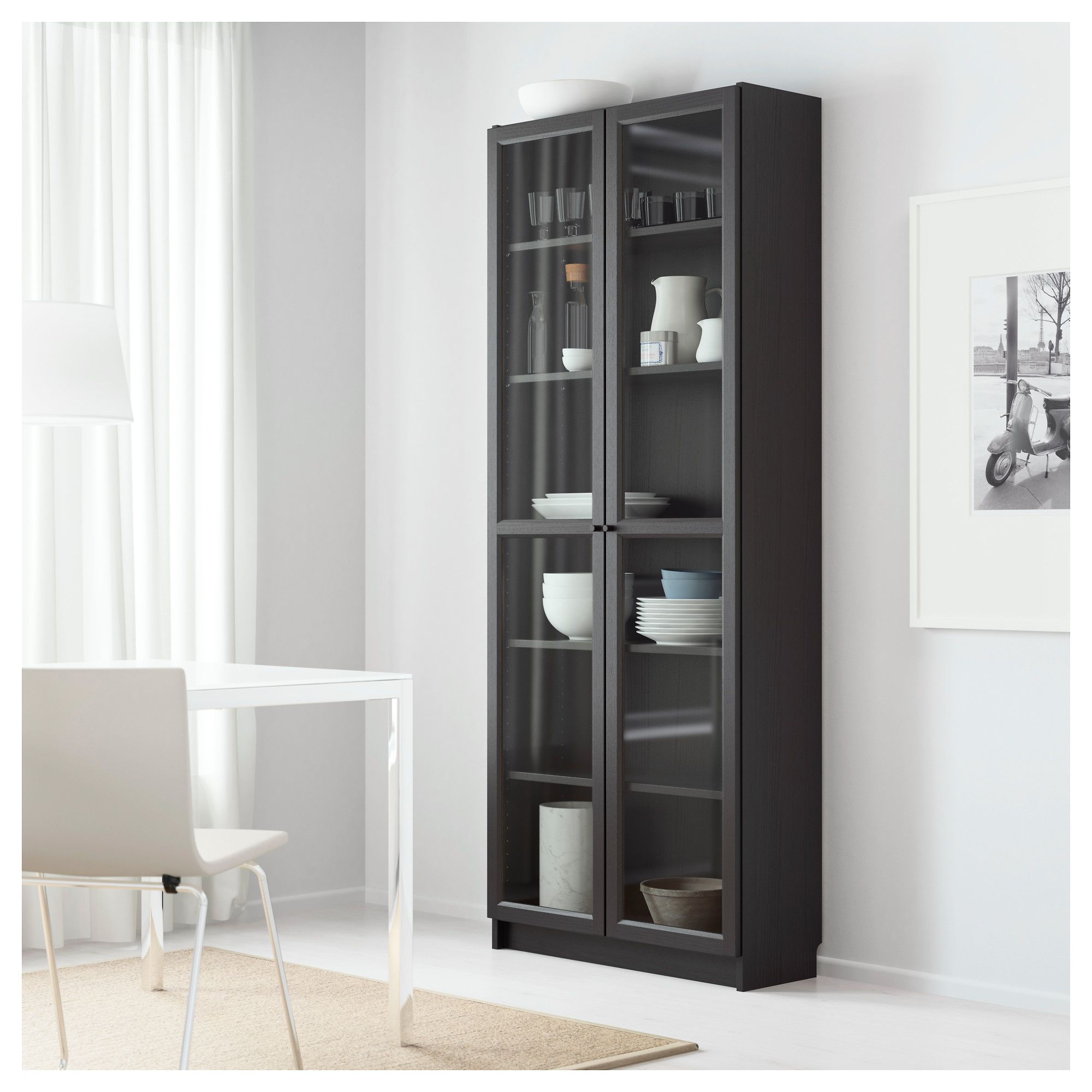 Billy oxberg bookcase blackbrown in home inspirations