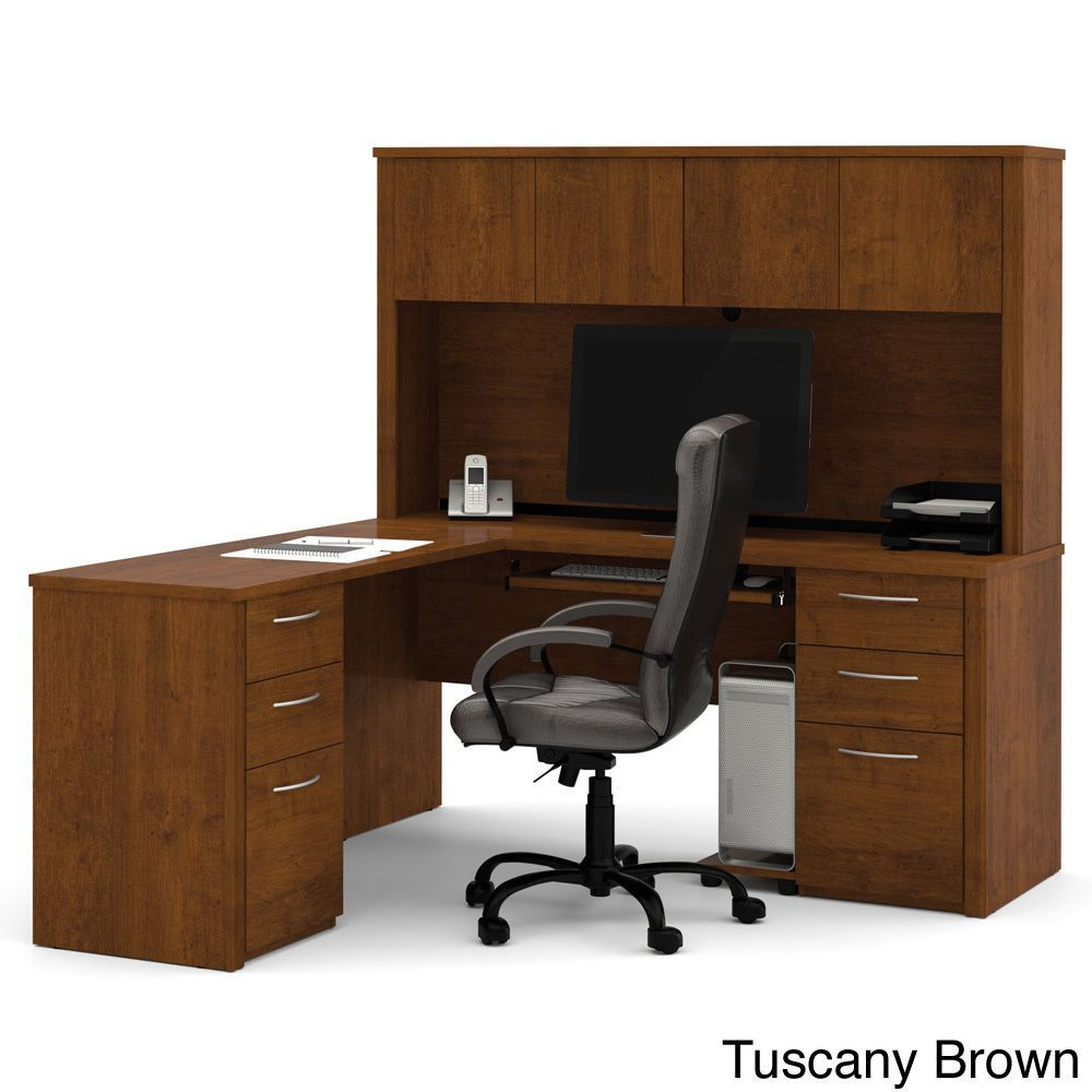 The Embassy L-shaped Workstation kit offers numerous configuration possibilities for various uses. With smaller desks, this collection is ideal for every type of workplace including the home office.