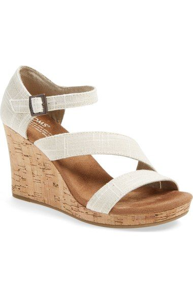 c5c1f29bd1bd TOMS  Clarissa  Wedge Sandal (Women) available at  Nordstrom ...