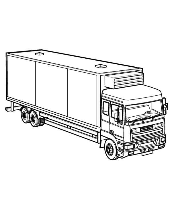 Big Rig Semi Truck Coloring Page Netart In 2020 Truck Coloring Pages Firetruck Coloring Page Coloring Pages For Kids