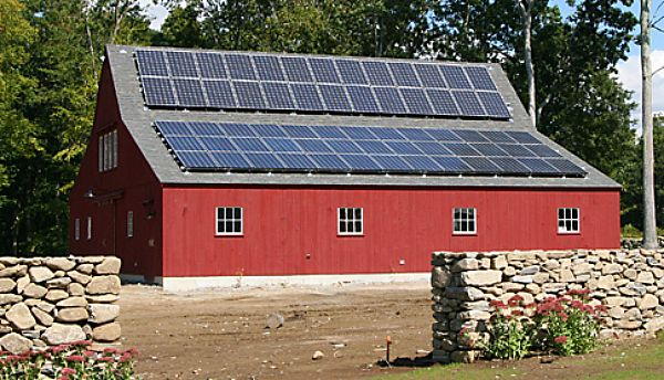 Traditional Nze Home In Connecticut Pole Barn Homes Solar Barn House