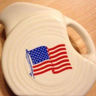 Fiesta® Dinnerware Disc Pitcher with American Flag decal & Fiestaware....LUV! | Sweet Land of Liberty | Pinterest | Fiestas ...