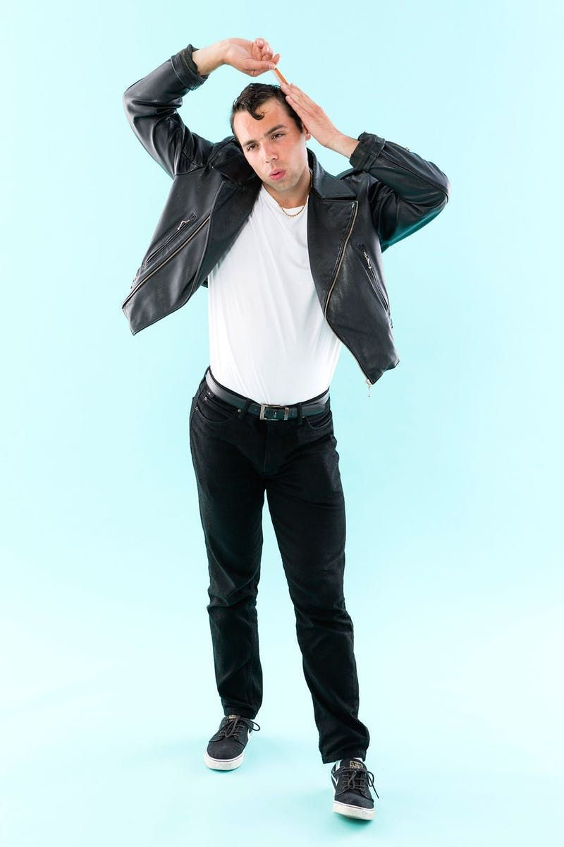 Danny Zuko from Grease - 65 Halloween Costume Ideas for Guys via Brit + Co  sc 1 st  Pinterest & 65 Halloween Costume Ideas for Guys | Halloween costumes Costumes ...