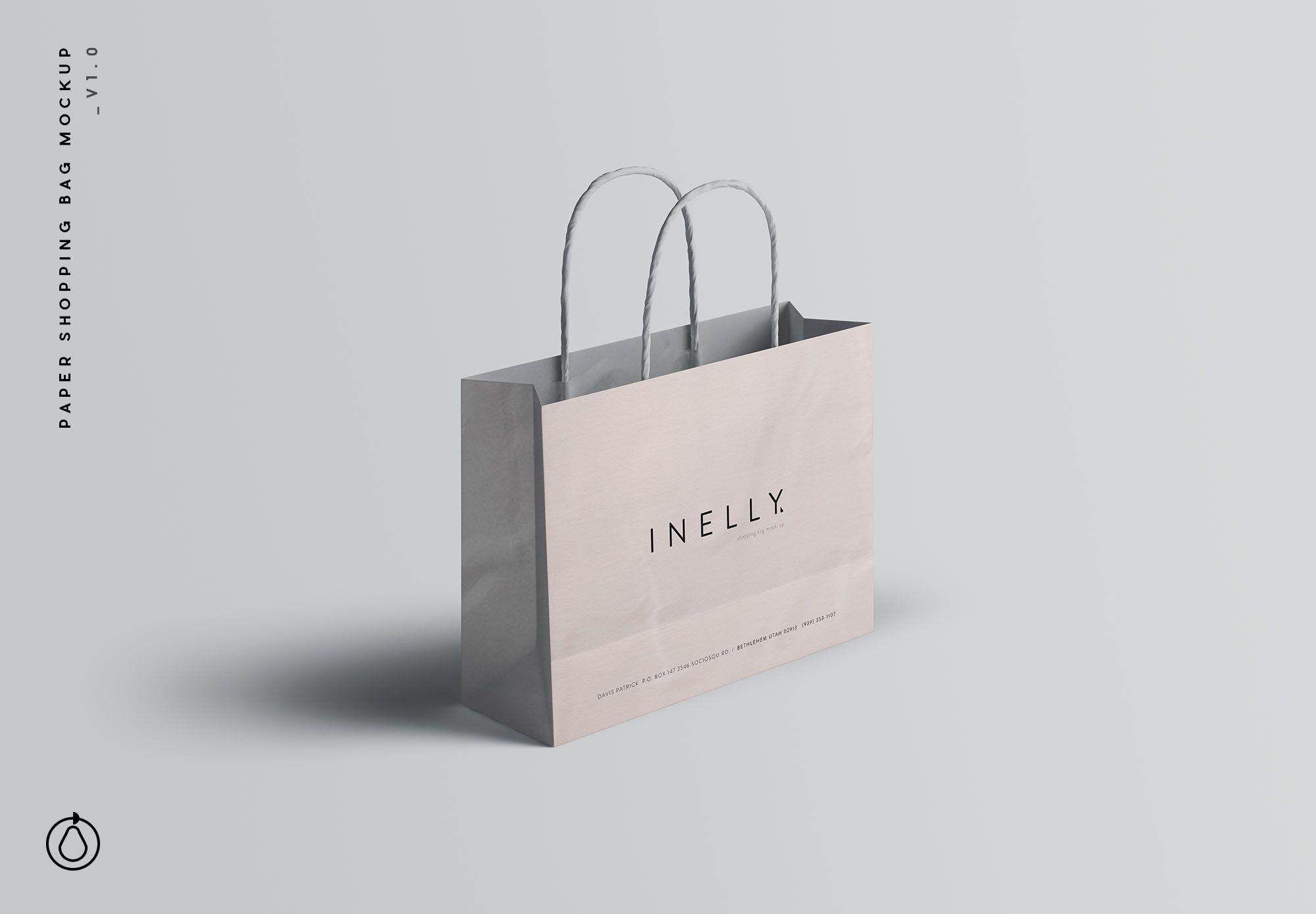 Download Paper Shopping Bag Mockup Psd Bag Mockup Paper Shopping Bag Mockup Psd