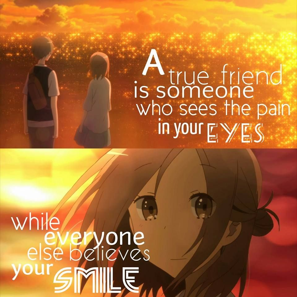 Anime Sad Girl Quotes Pics: Anime: One Week Friends