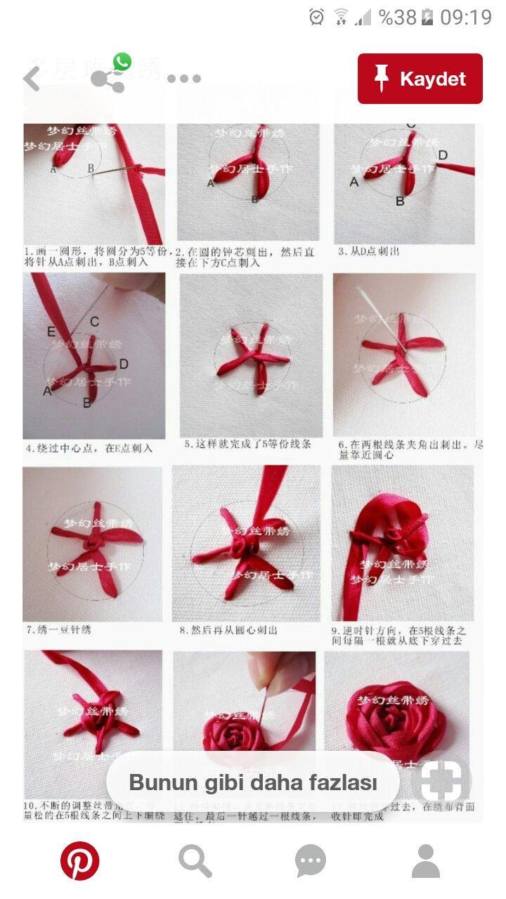Pin by Hope Whitehead on ribbon embroidery   Pinterest   Bordado ...