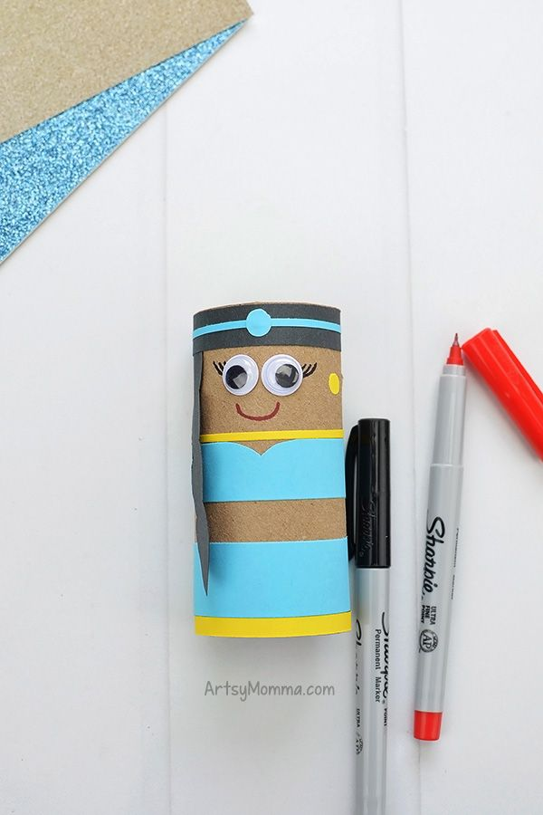 Toilet Paper Roll Jasmine Craft #ArtsAndCrafts #KidsCrafts #Crafts #DIY #Disney #Aladdin