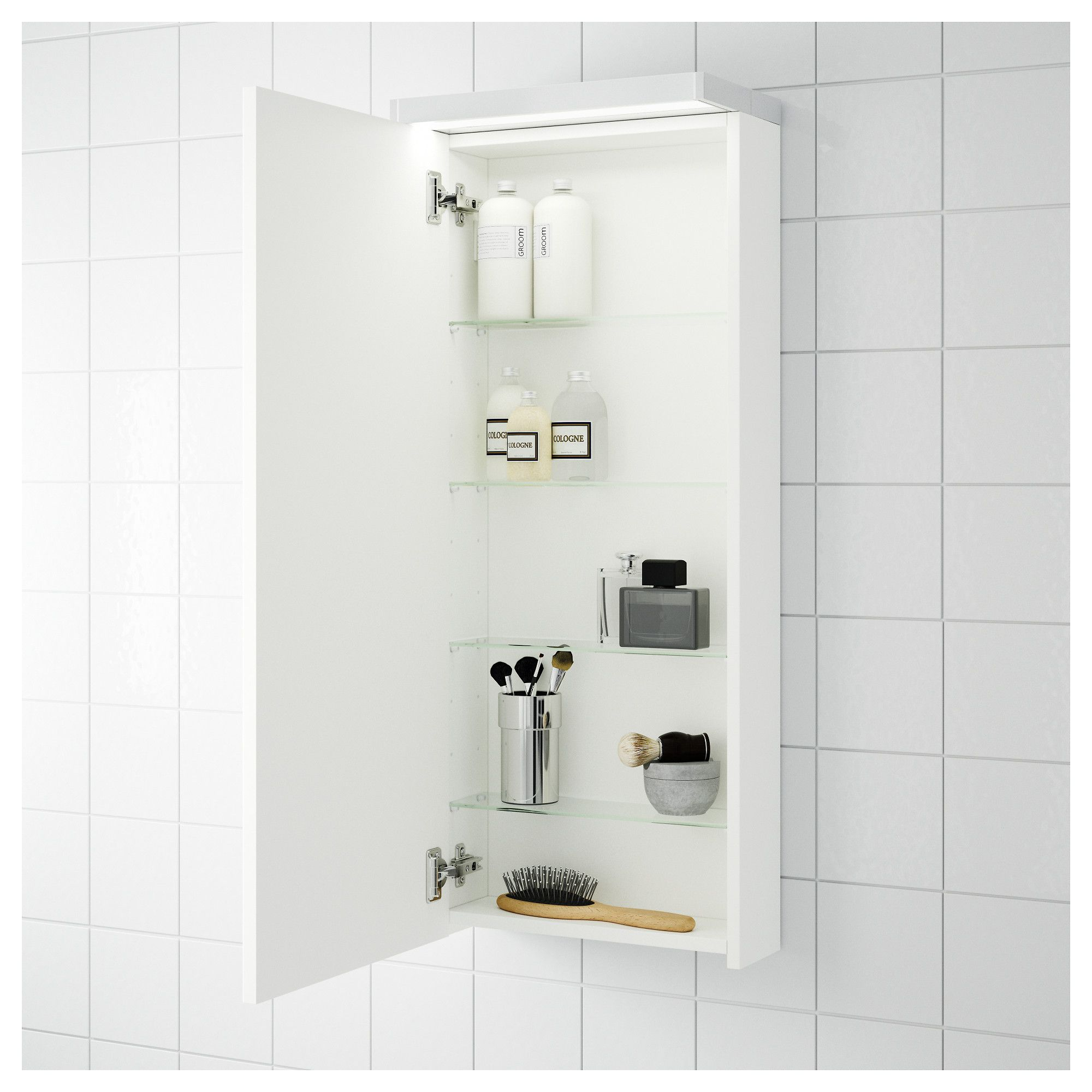 IKEA - GODMORGON Wall cabinet with 1 door white | Bathroom ...