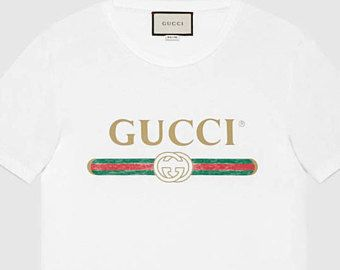 680134d6 vintage gucci inspired t-shirt | What to wear | Printed cotton ...