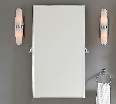 Contemporary Art Sites PB Hewitt Pivot Mirror and wall sconces Inspiration for master bathroom u