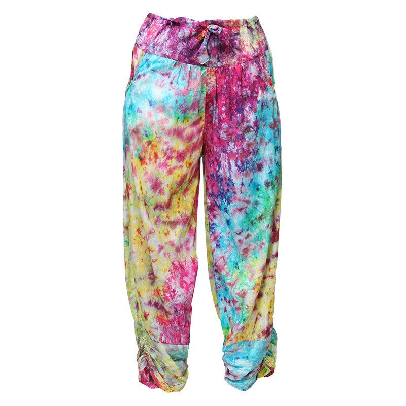 Psychedelic Tie Dye Harem Pants | The Hippy Clothing Co.