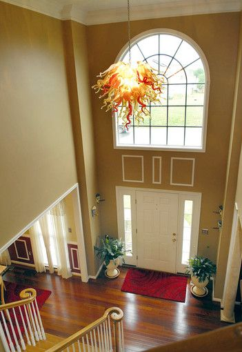 Foyer Chandelier Window : Pictures dream home in perry hall foyers chandeliers