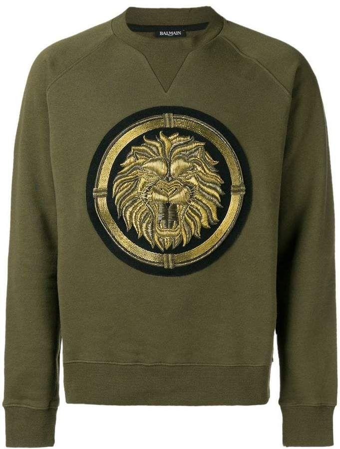 6d22ef929a8 Balmain copper lion crewneck sweatshirt | new logo in 2019 | Crew ...