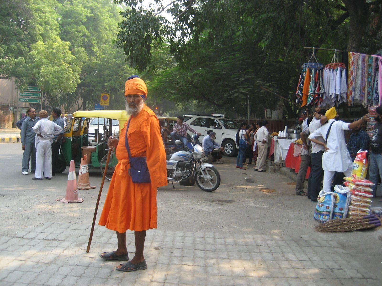 A nihankari caught on camera on a sidewalk in delhi india my