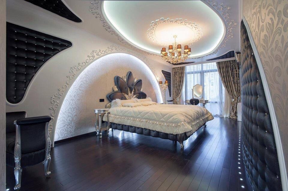 Luxury futuristic bedroom   Pop false ceiling design ...