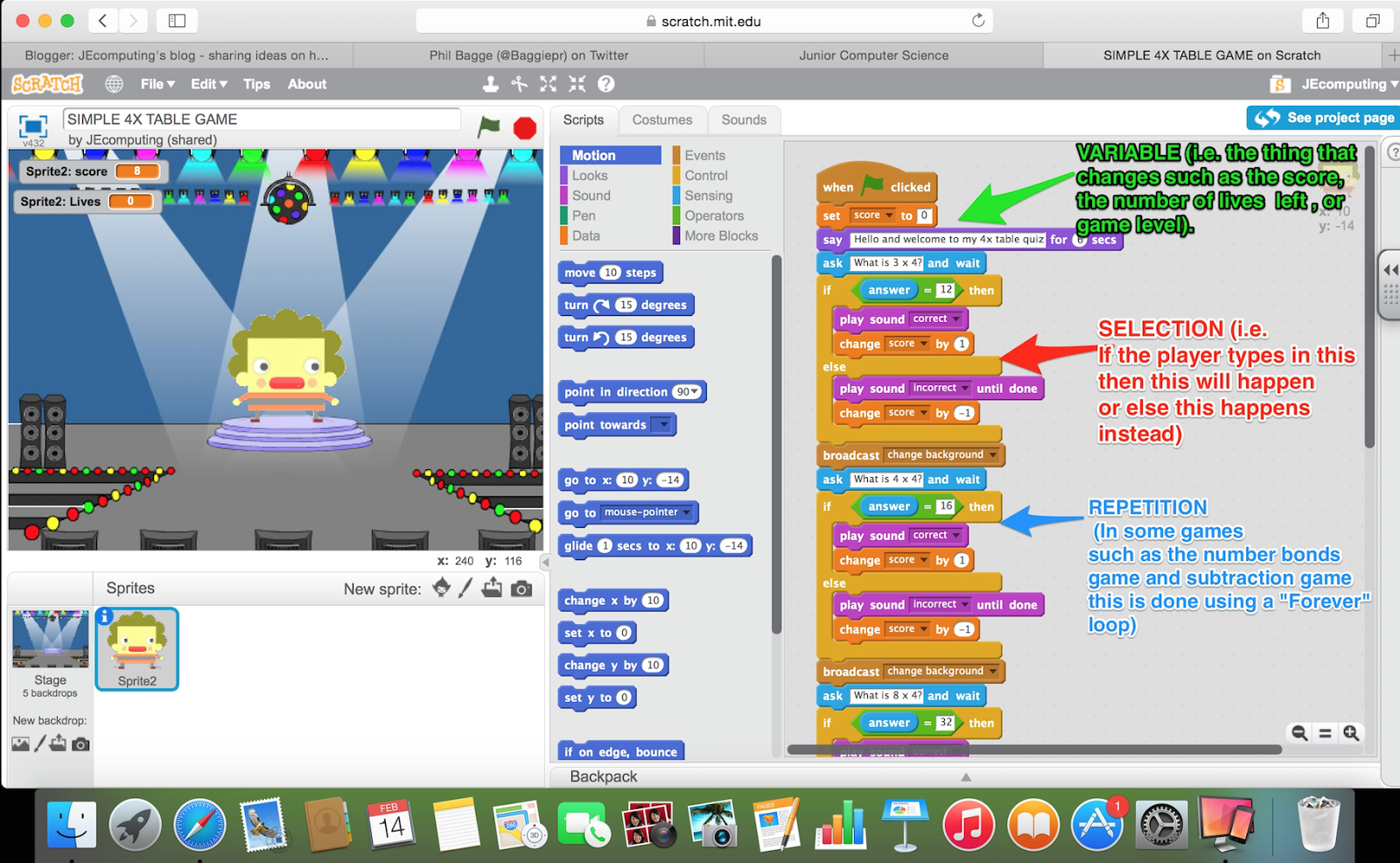 Ideas from the Computing classroom: Programming maths games