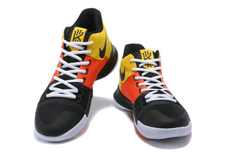 74fb35fe4f12 Cheap Nike Kyrie 3 Raygun PE Black and Orange Flash color White Mens  Basketball Shoes 2018