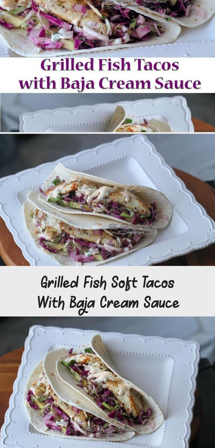 Grilled fish Tacos with Baja Cream Sauce  #taco #healthy #healthyeating #fishtacos #baja #fitness #f...