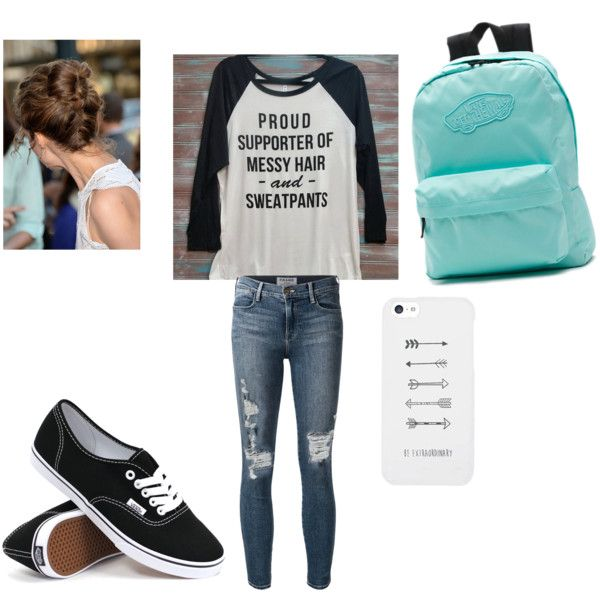My Middle School Look By Tierramoore10 On Polyvore Featuring Frame Denim And Vans Things To
