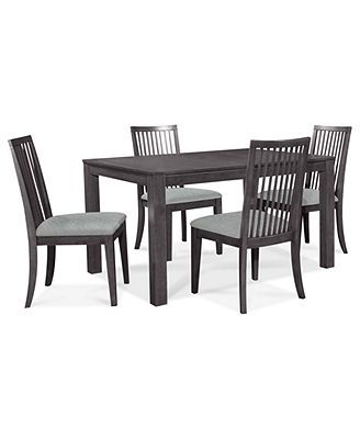 Slade Dining Room Furniture, 5 Piece Set (Dining Table and 4 Side Chairs)