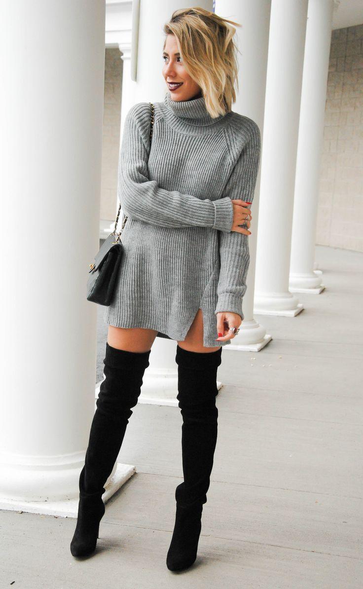 H m black tiger sweater dress