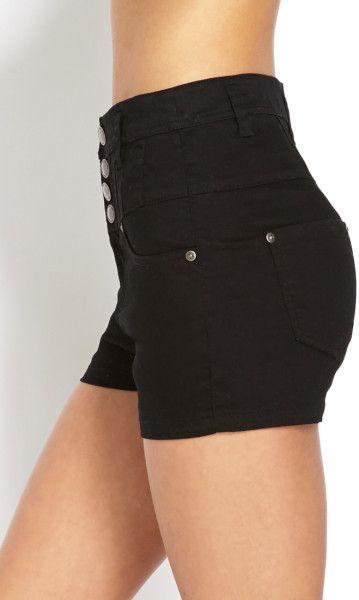 heetheadz.com high waisted black jean shorts (03 ...