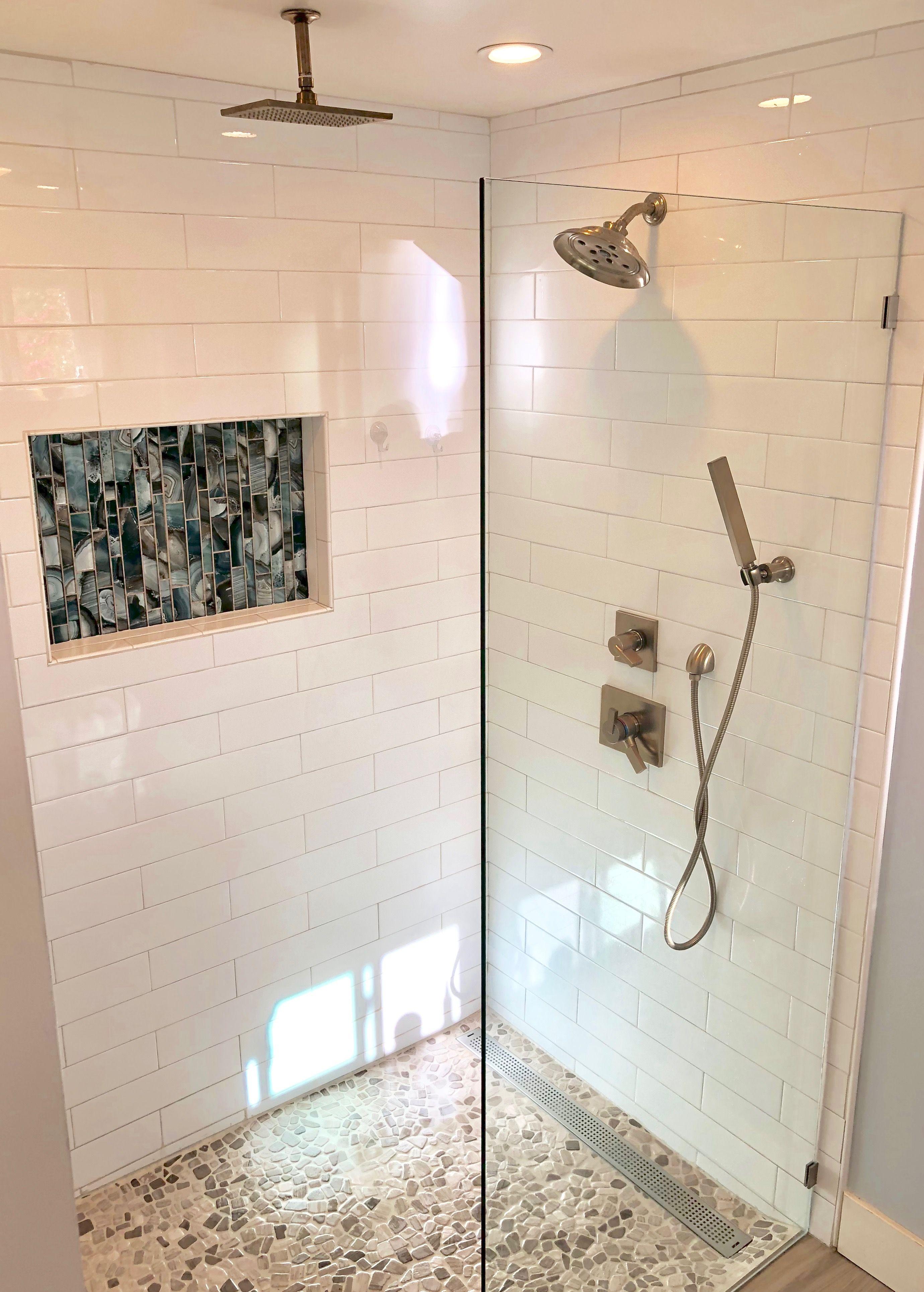 My Long Awaited Master Bath Shower Large White Subway Tile
