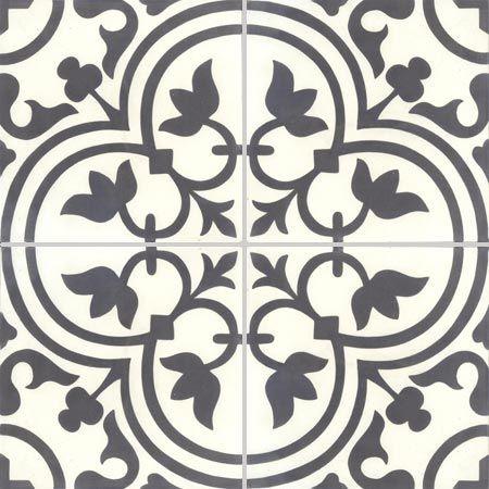 Carreaux de ciment d cors 4 carreaux carreau normandie couleurs mati res walls - Texture carrelage blanc ...