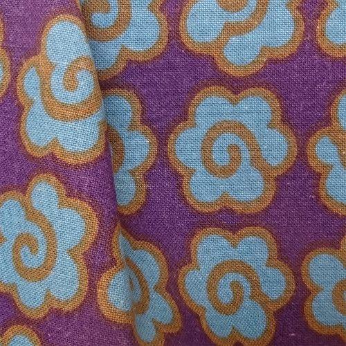 Vintage Conran 60's Fabric Magic Flower Firecracker