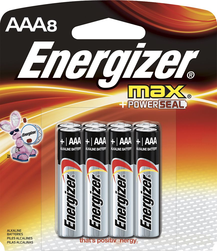 Energizer Max Aaa Batteries 8 Pack E92mp 8 Best Buy Alkaline Battery Energizer Battery Energizer