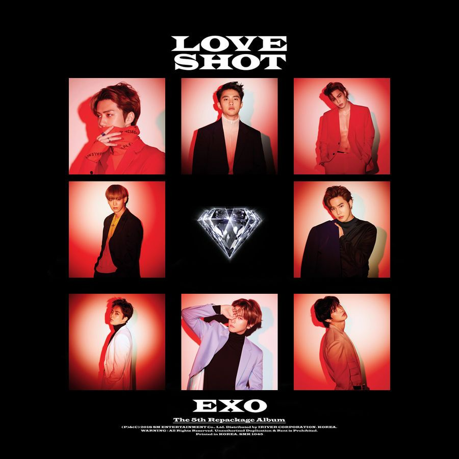 Exo Love Shot 5th Repackage Album Cover By Thesentimentalmisfit Exo Album Album Covers Album