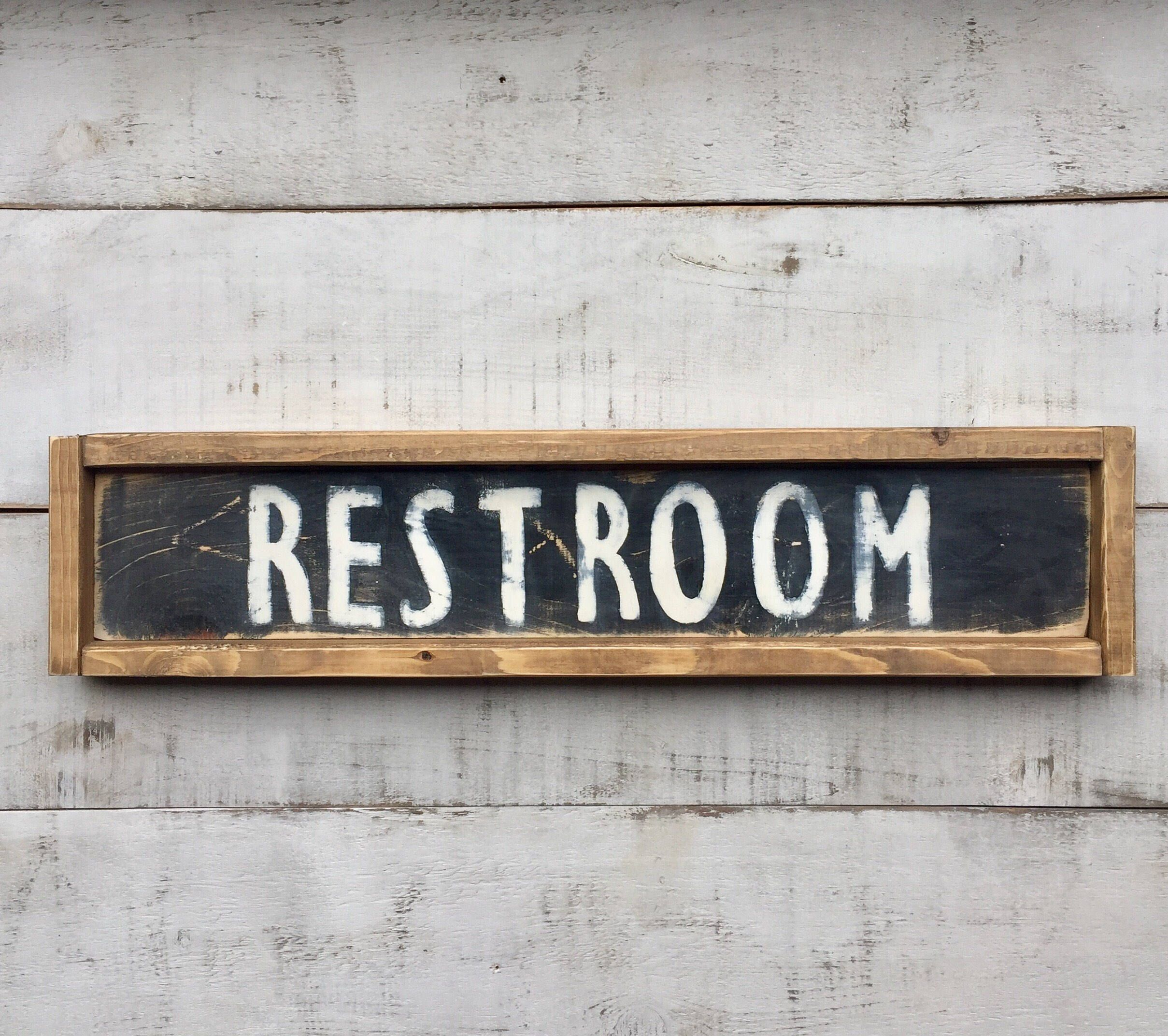 Restroom Bathroom Sign Signs Sign Wood Sign Farmhouse Style Country Decor Bathroom Decor By Pr Country Bathroom Decor Country House Decor Bathroom Signs