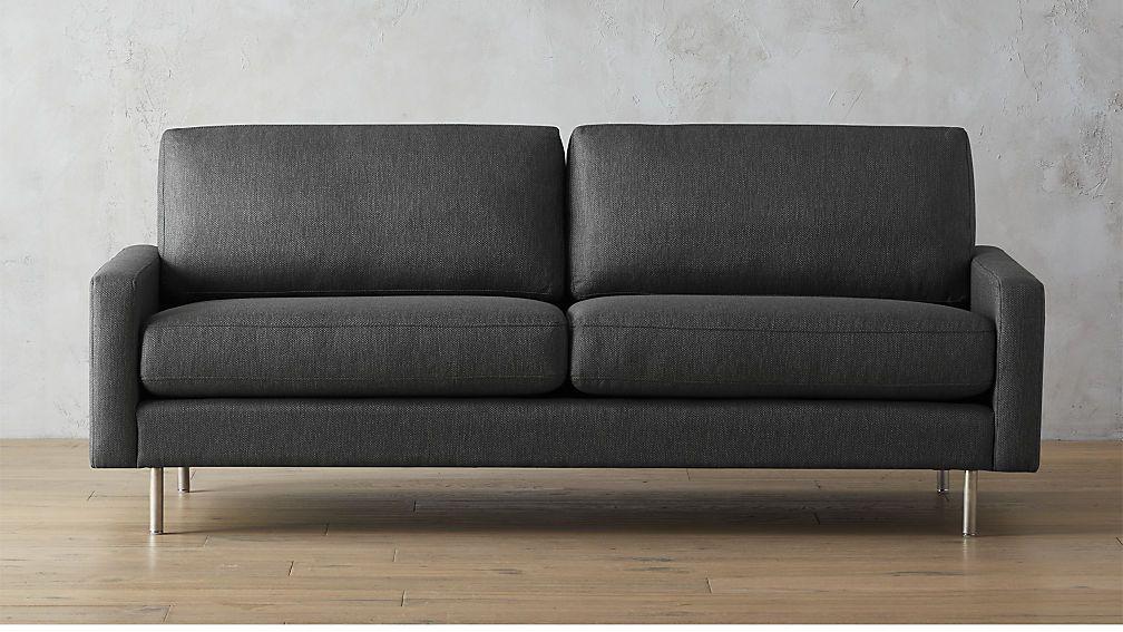 Dark gray sofa with solid wood legs article burrard modern furniture graphite scandinavian furniture and sofa sofa