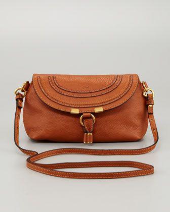 4c46059b88386e Marcie Pouchette Crossbody Bag, Tan by Chloe at Neiman Marcus. | My ...
