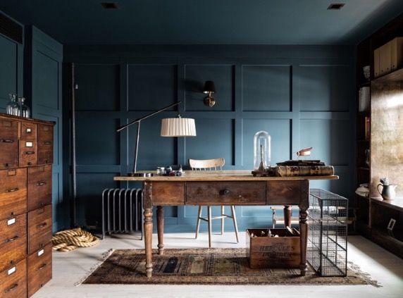 Architektur, Haus, Liebesbriefe, Maskulines Bürodekor, Blaues Bürodekor,  Männliche Heimbüros, Hausbüro
