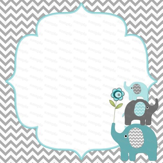 diy baby shower: amazing decorations, games, and food! | elephant, Baby shower invitations