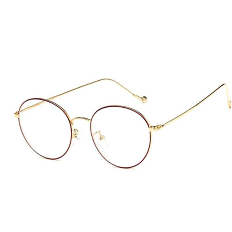 57ad8e168627d Fashion small round nerd glasses clear lens unisex gold round metal frame  glasses frame optical men