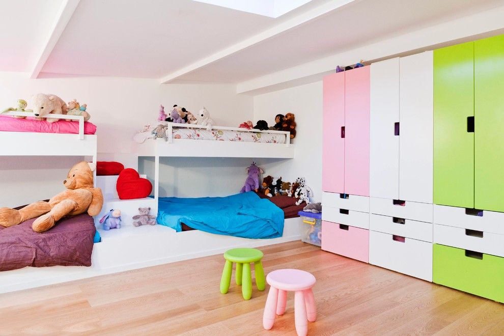 Attirant Beautiful Armoire Ikea In Kids Contemporary With Three Tier Bunk Bed Next  To Ikea Stuva Alongside