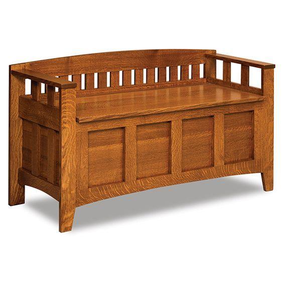 Amish Westfield Storage Bench   Amish Furniture   Shipshewana Furniture Co.