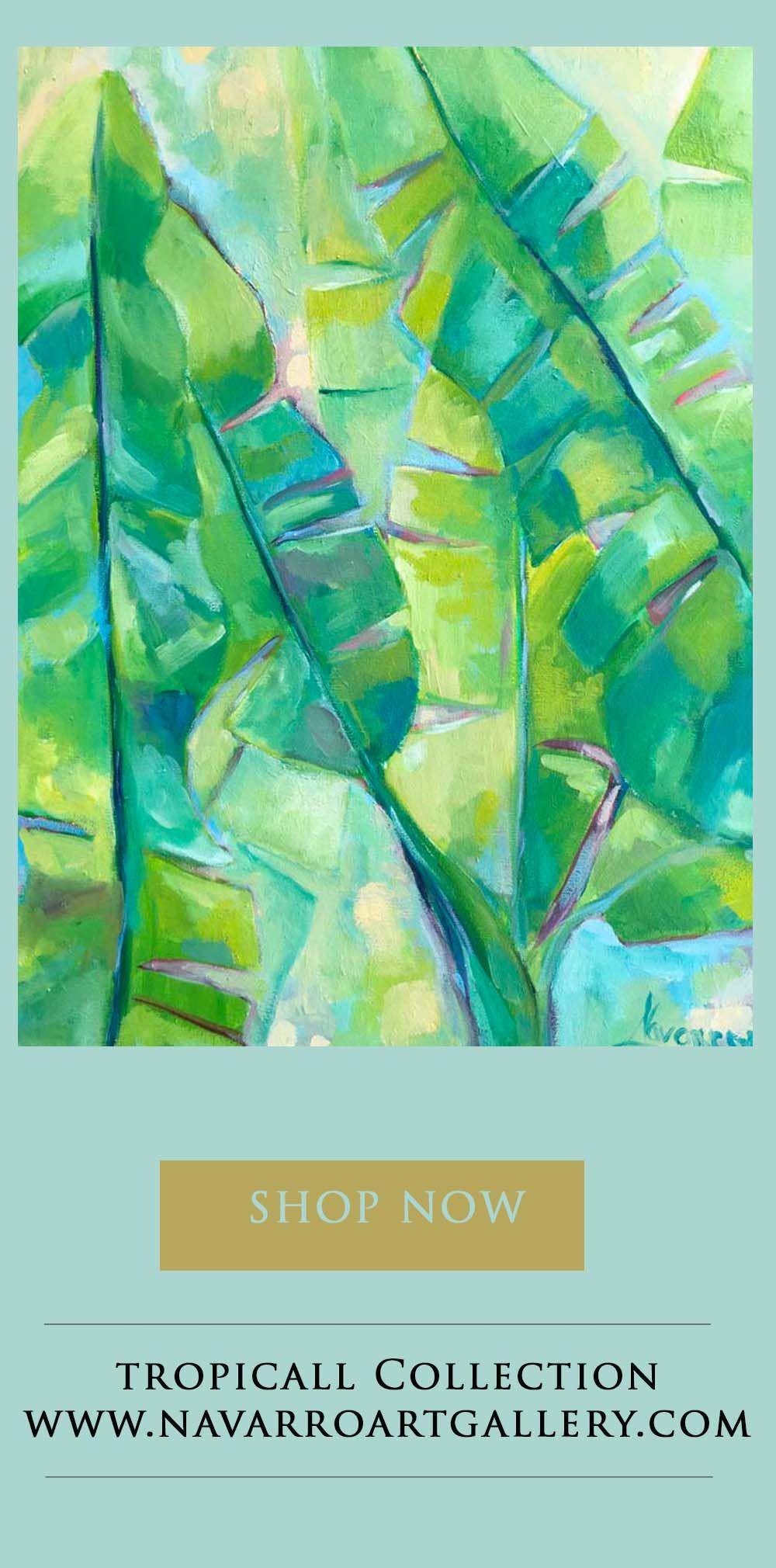 Banana Leaves, Tropical Art