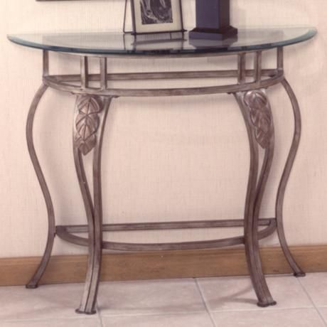 Hillsdale Bordeaux Pewter Wrought Iron Console Table Like This