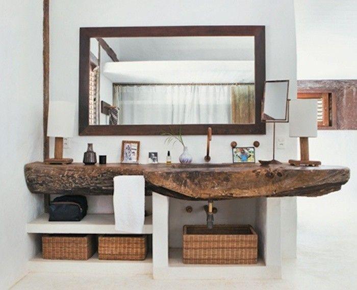 Bagno rustico ~ Decorare la casa con i cesti cestini vimini in bagno rustico