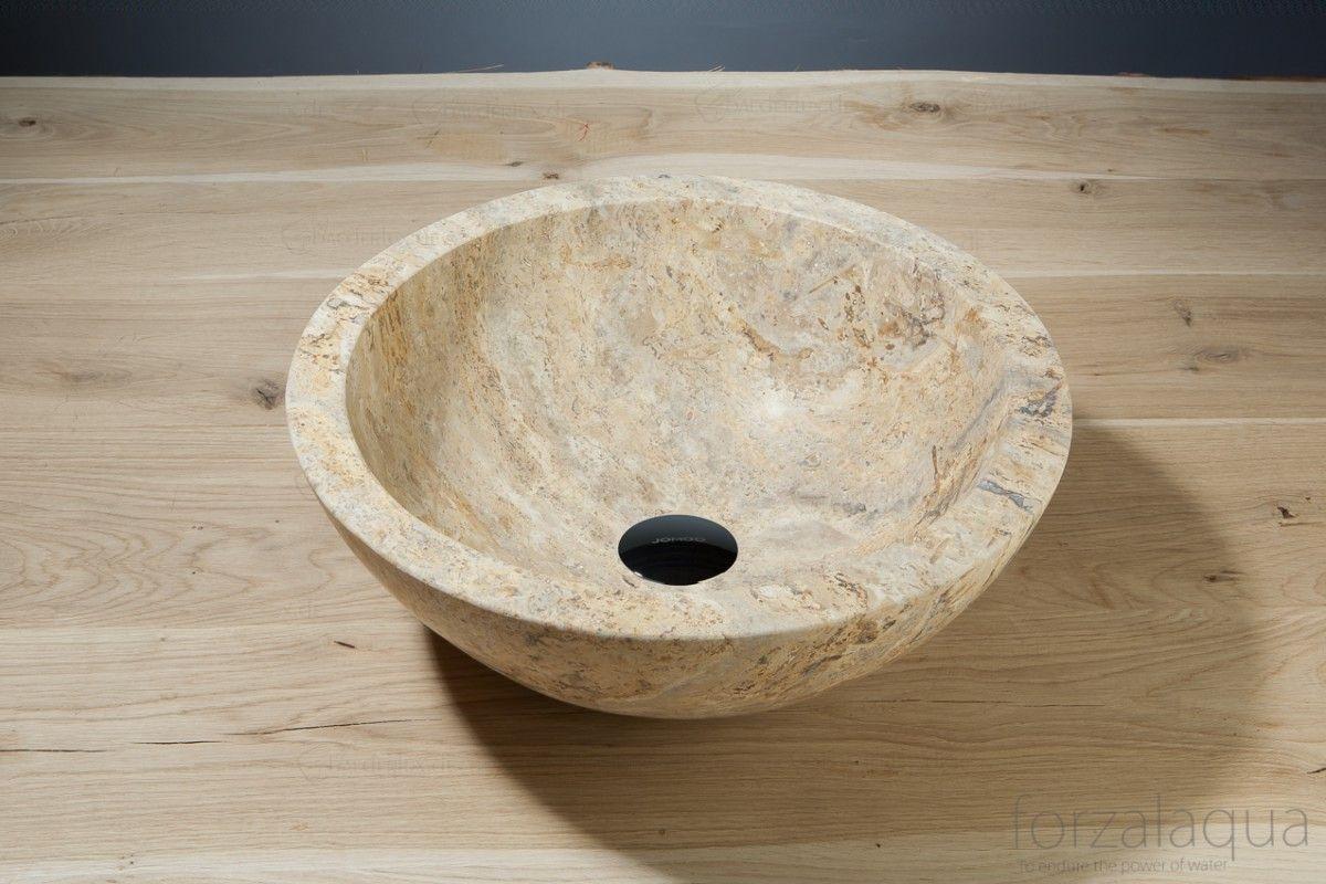forzalaqua aufsatz waschbecken roma aus naturstein bad waschtisch naturstein. Black Bedroom Furniture Sets. Home Design Ideas