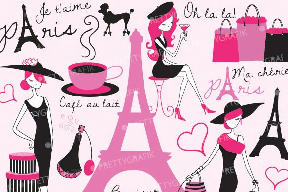 paris fashion clipart ~ Illustrations on Creative Market