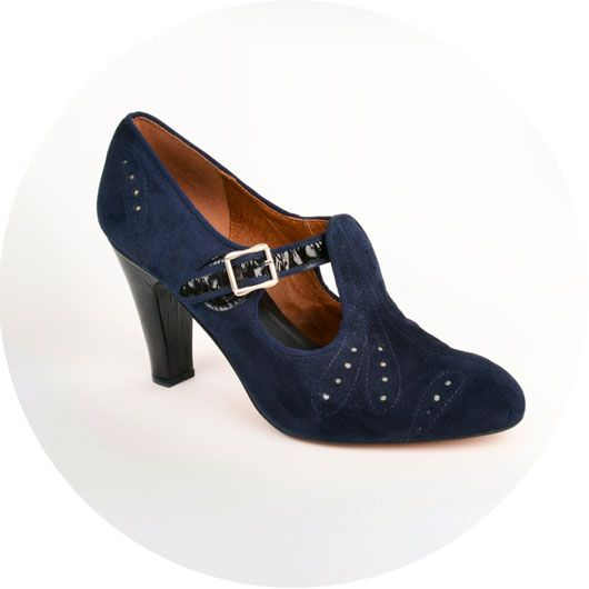 ... ffcdb e5670 ReMix Vintage Shoes 1930s Cloche Navy. A reproduction  vintage style shoe available in ... 1530438e1