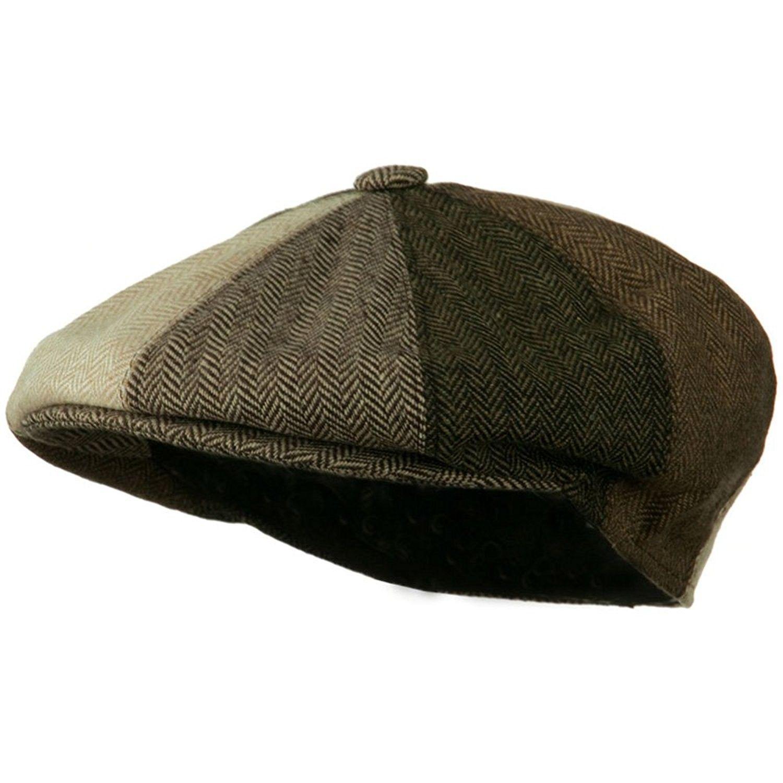 Men s Multi-tone Wool Apple Cap - Brown W16S52C - CX11C0N6OJD - Hats   Caps 17362e062e8