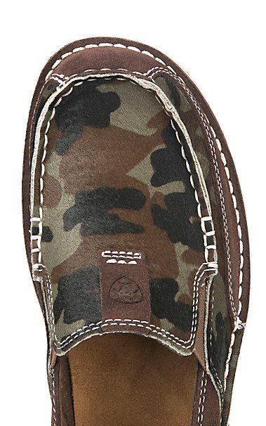 Ariat Cruiser Women s Chocolate Chip Suede with Camo Hair Moc Casual Shoe  6d67d5b2cadf